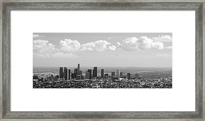 Downtown Of Los Angeles Framed Print