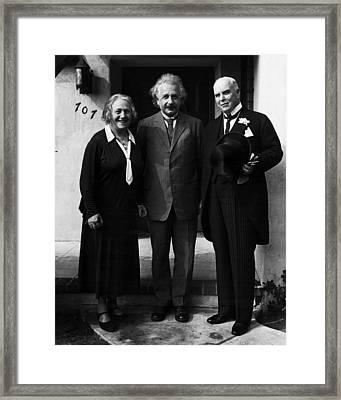 Dr. Albert Einstein Framed Print by Retro Images Archive