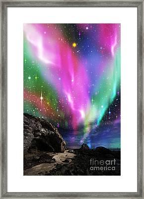 Dramatic Aurora Framed Print