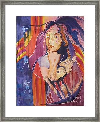 Framed Print featuring the painting Dreams And Nightmares by Diana Bursztein