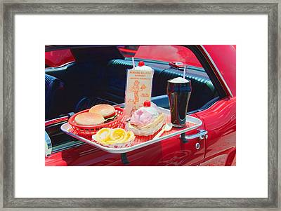 Drive-in Framed Print by Rudy Umans