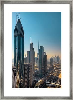 Dubai Skyline Framed Print by Fototrav Print