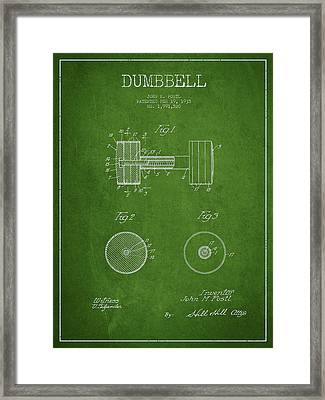 Dumbbell Patent Drawing From 1935 Framed Print