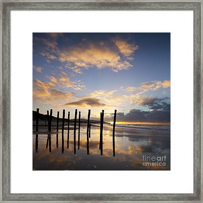 Dunedin St Clair Beach At Sunrise Framed Print by Colin and Linda McKie