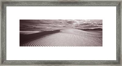 Dunes, White Sands, New Mexico, Usa Framed Print by Panoramic Images
