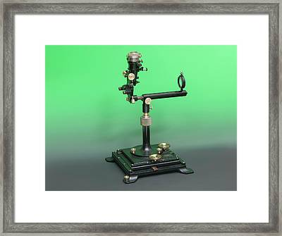 Early 20th Century Ophthalmoscopy Tool Framed Print by Mark Thomas/science Photo Library
