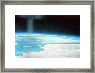 Earth From Space Framed Print by Nasa