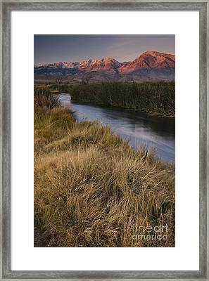 Eastern Sierras And Owens River Framed Print