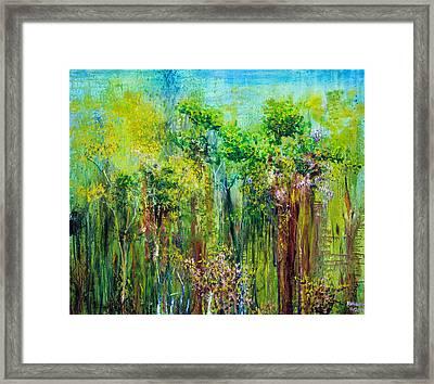 Edge Of Eden Framed Print by Regina Valluzzi