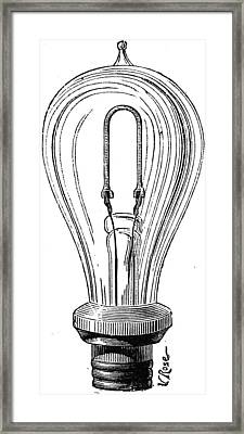 Edison Lamp, 19th Century Framed Print by Granger