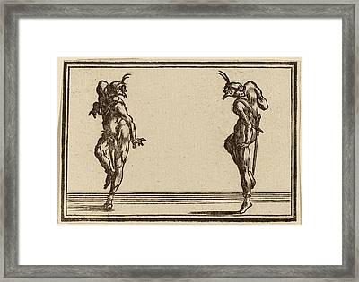 Edouard Eckman After Jacques Callot Flemish Framed Print by Quint Lox
