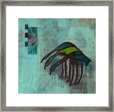 3 Egrets - J076073091a2bl Framed Print