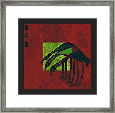 3 Egrets - Smv09zbx2 Framed Print by Variance Collections