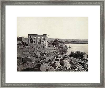 Egypt Island Of Philae Framed Print by Granger