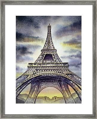 Eiffel Tower  Framed Print by Irina Sztukowski