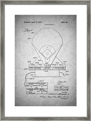 Electric Baseball Game Patent 1972 Framed Print
