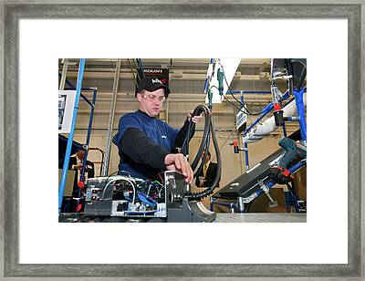 Electric Car Charging Station Assembly Framed Print by Jim West