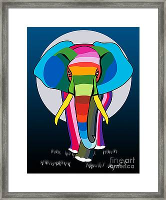 Elephant  Framed Print by Mark Ashkenazi