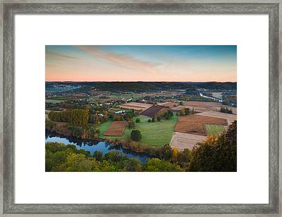 Elevated View Of The Dordogne River Framed Print by Panoramic Images