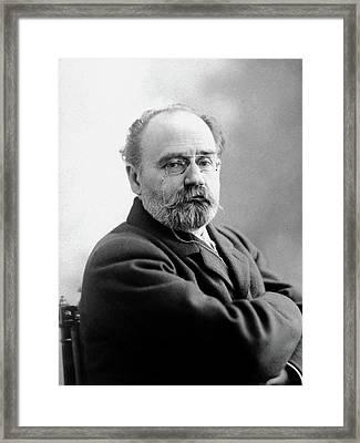 Emile Zola (1840-1902) Framed Print