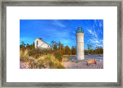 Empire Michigan Lighthouse Framed Print by Twenty Two North Photography