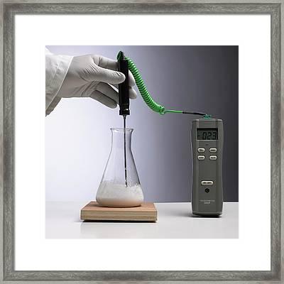 Endothermic Reaction Framed Print