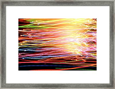 Energy Lines Framed Print by Les Cunliffe