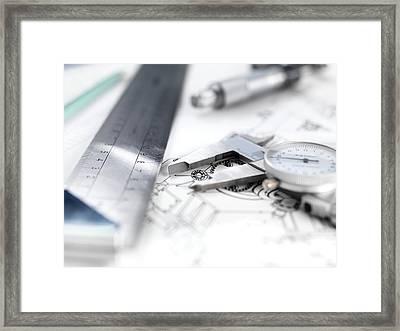 Engineering Design Framed Print by Tek Image
