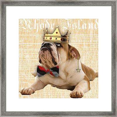 English Bulldog Bowtie Collection Framed Print