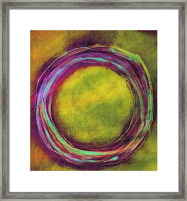 Framed Print featuring the painting Enso by Katie Black