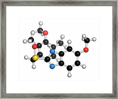 Esomeprazole Peptic Ulcer Drug Molecule Framed Print