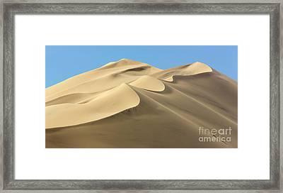 Eureka Dunes In Death Valley  Framed Print by Yva Momatiuk John Eastcott
