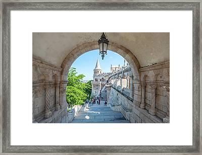 Europe, Hungary, Budapest, Fisherman's Framed Print