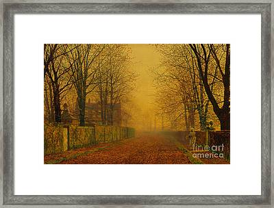 Evening Glow Framed Print by Celestial Images