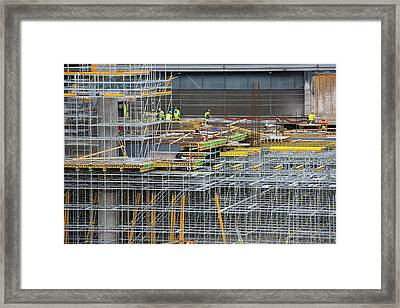 Expansion Work At Oslo Airport In Norway Framed Print by Ashley Cooper