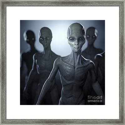 Extraterrestrial Life Framed Print by Science Picture Co