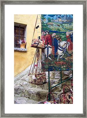 Eze Tapestry Framed Print
