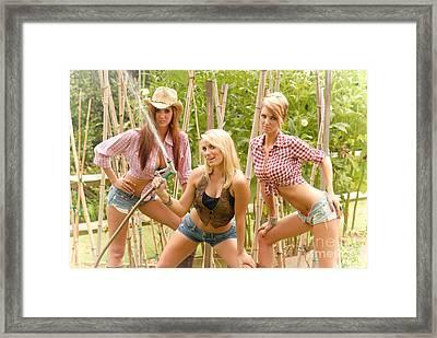 3 Farm Girls Framed Print