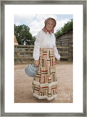 Farm Woman  Framed Print