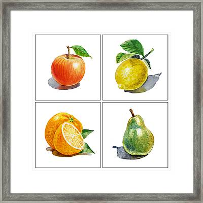 Farmers Market Delight  Framed Print