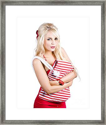 Fashionable Woman Framed Print