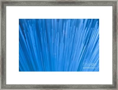 Fiber Optics Close-up Abstract Framed Print