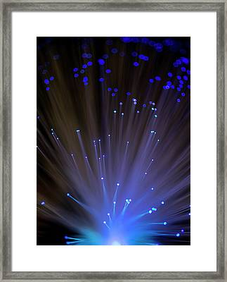 Fibre Optics Framed Print by Science Photo Library