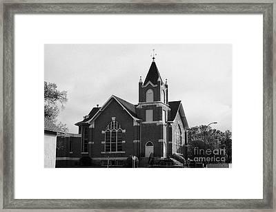 first united church swift current Saskatchewan Canada Framed Print