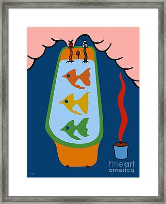 3 Fish In A Tub Framed Print by Patrick J Murphy