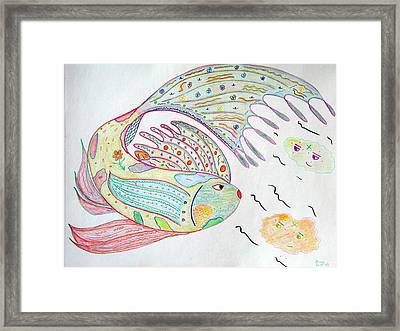 Fishstiqueart 2009 Framed Print by Elmer Baez