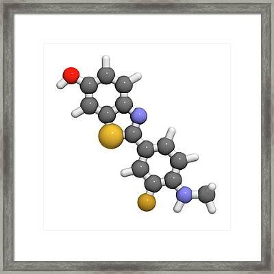 Flutemetamol 18f Pet Tracer Molecule Framed Print
