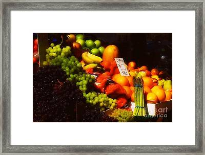 3 For 2 Dollars Framed Print by Miriam Danar