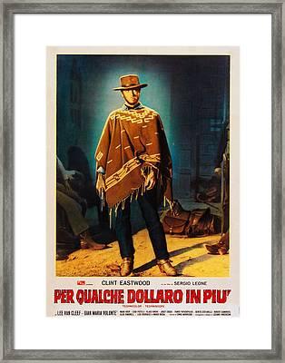 For A Few Dollars More Aka Per Qualche Framed Print by Everett