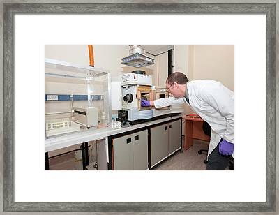 Forensic Evidence Analysis Framed Print